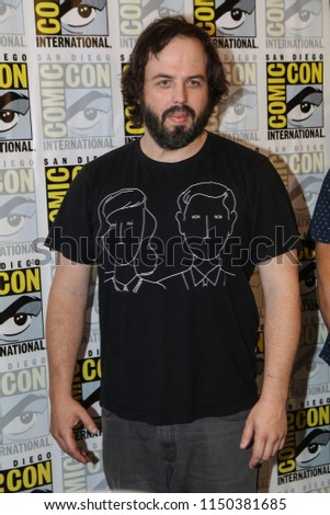 San Diego, CA - July 21, 2018: Angus Sampson of SyFy's Nightflyers arrives at Comic Con 2018 in San Diego, CA.