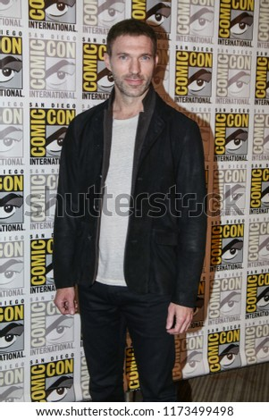 San Diego, CA - July 20, 2018:  Director Travis Knight from Paramount Pictures' Bumblebee film arrives at Comic Con 2018 in San Diego, CA.