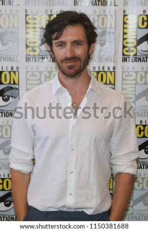 San Diego, CA - July 21, 2018: Eoin Macken of SyFy's Nightflyers arrives at Comic Con 2018 in San Diego, CA.