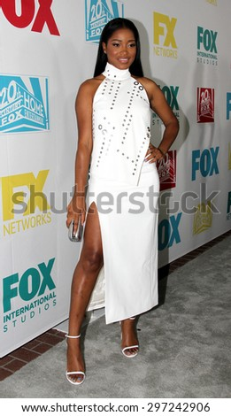 SAN DIEGO, CA - JULY 10: Keke Palmer arrives at the 20th Century Fox/FX Comic Con party at the Andez hotel on July 10, 2015 in San Diego, CA. - stock photo