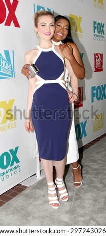 SAN DIEGO, CA - JULY 10: Skyler Samuels and Keke Palmer arrive at the 20th Century Fox/FX Comic Con party at the Andez hotel on July 10, 2015 in San Diego, CA. - stock photo