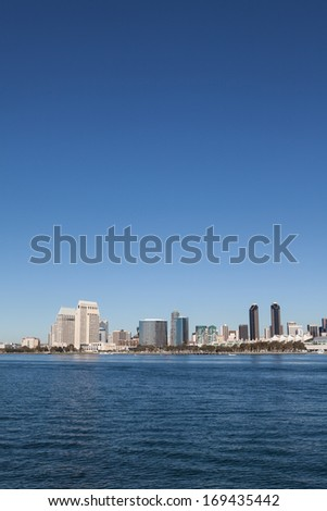 San Diego, California from Coronado - stock photo
