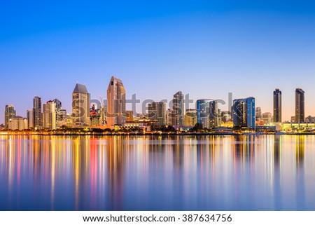 San Diego, California, USA skyline. - stock photo