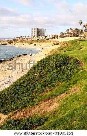 San Diego Coastline at La Jolla - stock photo