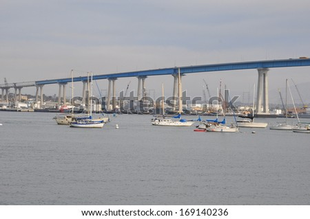 San Diego - Coronado Bridge in California - stock photo