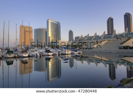 San Diego downtown marina and convention center