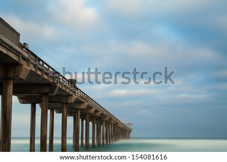 San Diego Long Exposure at Sunrise - stock photo