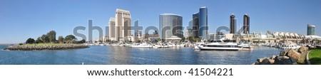 San Diego Marina and Downtown Panorama - stock photo