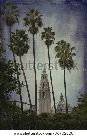 San Diego Museum of Man in Balboa Park in San Diego, California, also known as California Tower - stock photo
