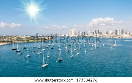 San Diego skyline and Waterfront  - stock photo