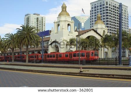 San Diego train station - stock photo