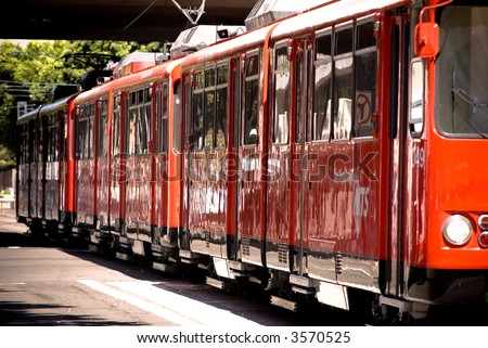San Diego Trolley - stock photo