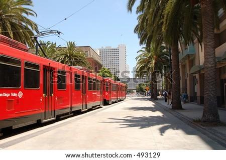 san diego trolley - stock photo