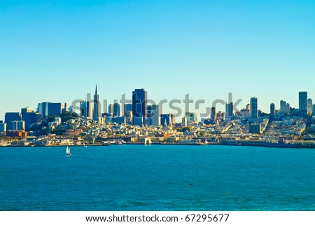 San Francisco bay and harbor. - stock photo