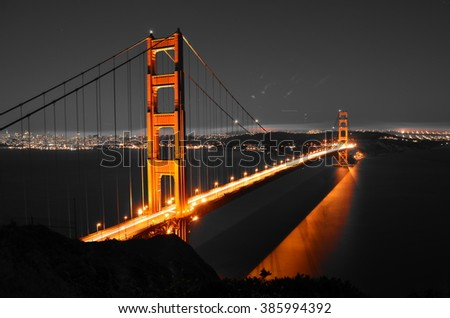 San Francisco Bridge at Night