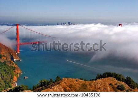 San Francisco bridge on a beautiful day. - stock photo