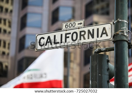 San Francisco, California - September 17, 2017: California Street Sign