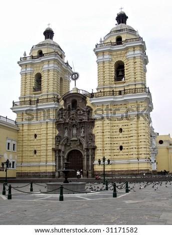 San Francisco church in Lima Peru - stock photo