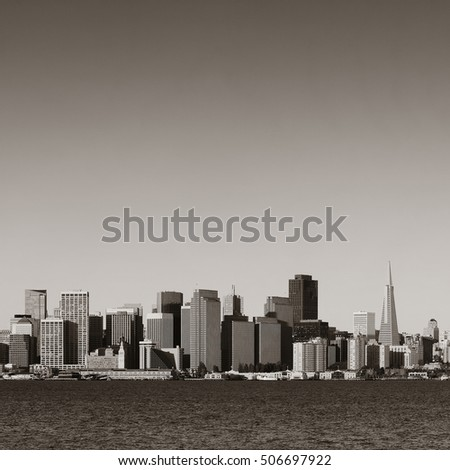 San Francisco city skyline with urban architectures.