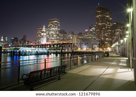 San Francisco cityscape at night
