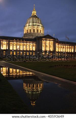 San Francisco civic center, city hall - stock photo
