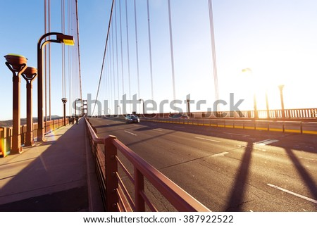 san francisco gold gate bridge in sunny day