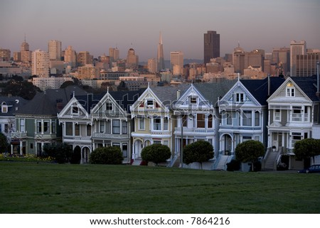 "San Francisco ""Painted Ladies"" - stock photo"