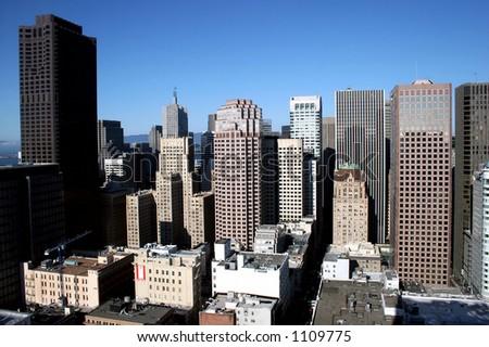 San Francisco skyline on a clear day. - stock photo