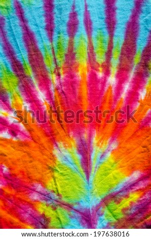 San Francisco Tie-Dye - stock photo