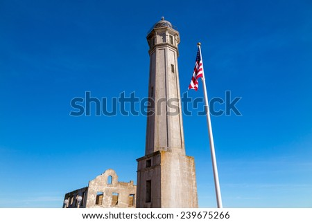 SAN FRANCISCO, USA - November 4: The Alcatraz Island Prison on October 4, 2014 in San Francisco, California. Alcatraz is one of the most infamous prisons in American history.