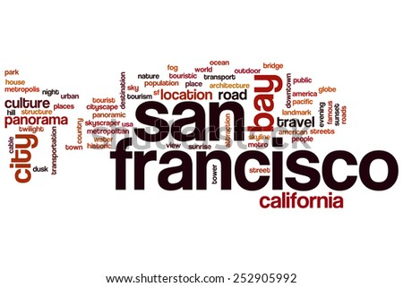 San Francisco word cloud concept - stock photo