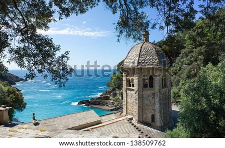 San Fruttuoso, Ligurian coast - stock photo