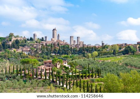 San Gimignano. Tuscany. Italy - stock photo