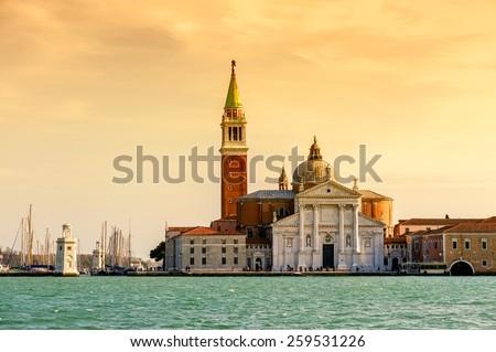 San Giorgio Maggiore. Italy. Venice. - stock photo