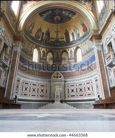 San Giovanni Laterano at Rome - stock photo