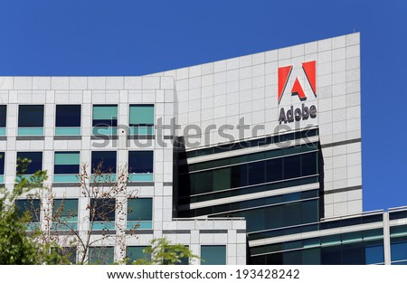 SAN JOSE, CA -Â?Â? MARCH 18: The Adobe World Headquarters located in downtown San Jose, California on March 18, 2014. Adobe Systems is an American computer software company. - stock photo
