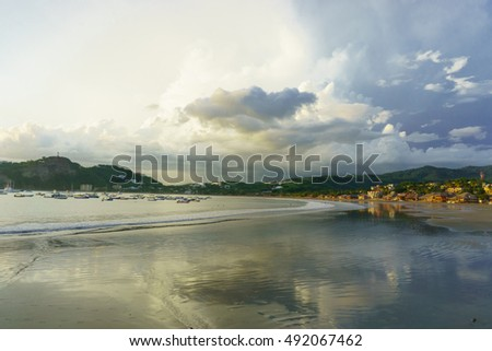 san juan del sur beach during sunset