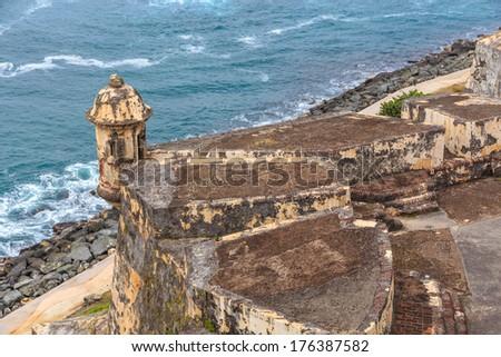 San Juan, Fort San Felipe del Morro, Puerto Rico - stock photo