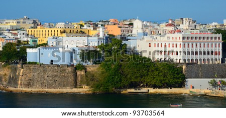"San Juan, Puerto Rico skyline at the ""Old City"" - stock photo"