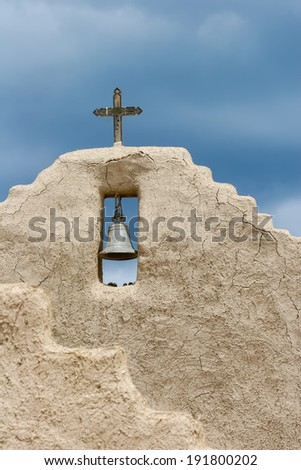 San Lorenzo de Picuris church in New Mexico - stock photo