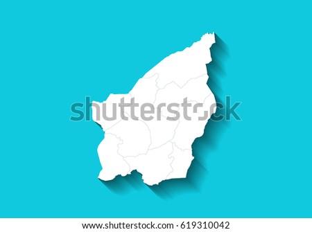 San Marino Country Map Long Shadow Stock Illustration 619310042
