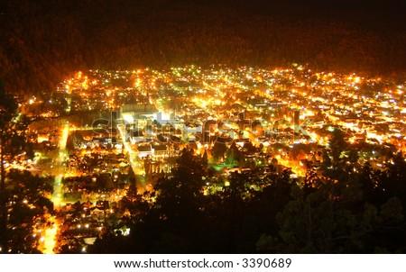 San Martin de los Andes by Night - stock photo