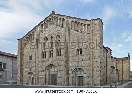 San Michele Maggiore church in Pavia, Italy - stock photo