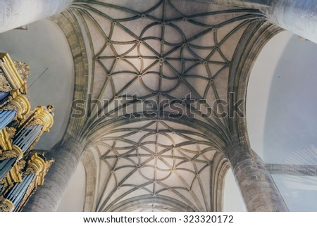SAN MILLAN, SPAIN - OCT 29, 2014: Church in Yuso Monastery in San Millan de la Cogolla, La Rioja, Spain