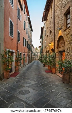 San Quirico d'Orcia - Picturesque nook of Tuscany - stock photo