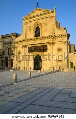 san Salvatore church, Noto, Sicily, Italy