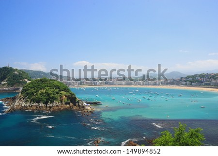San Sebastian city view - stock photo