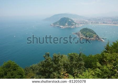 San Sebastian Concha Bay - stock photo