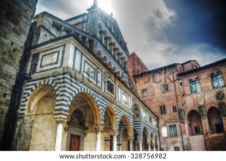 San Zeno cathedral in Pistoia, Italy - stock photo