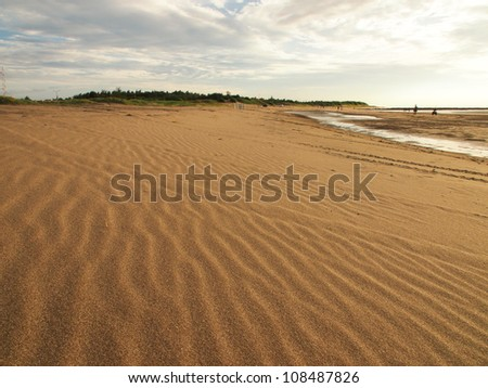 sand and beach - stock photo